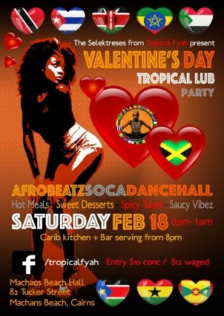 VALENTINES DAY TROPICAL LUB PARTY