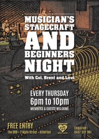 Musicians Stage Craft / Beginners Night