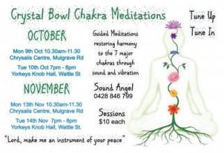 Crystal Bowl Chakra Meditation   Entertainment Cairns