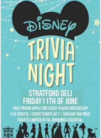 Disney Trivia at the Stratford Deli