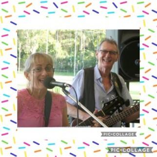 Kim Settle (Rock'n Sweet) and John Comrie at Holloway's Beach Sport Club