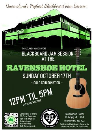 Blackboard Jam Session - RAVENSHOE Top Pub
