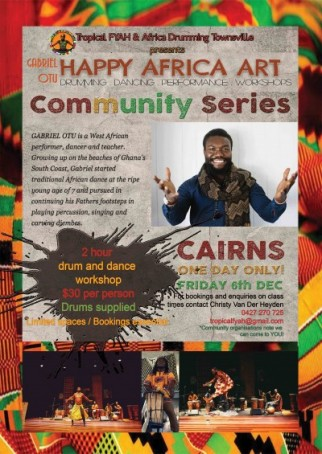 AFRICAN DRUM AND DANCE WORKSHOPS with Gabrielle Otu