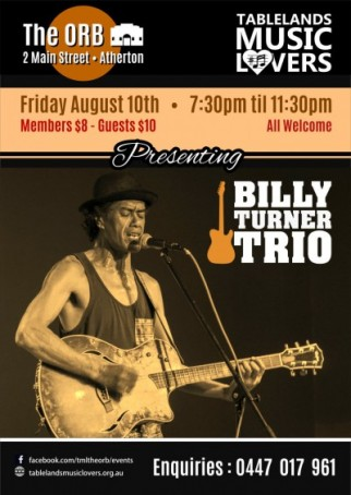 Billy Turner Trio @ the ORB