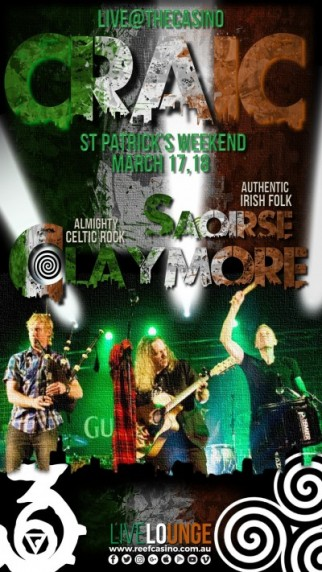 CRAIC  - PADDY'S WEEKEND MARCH 17,18