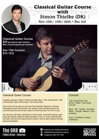 Simon Thielke Classical Guitar Course & Concert