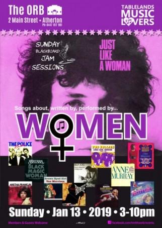 Sunday Blackboard Jam Sessions - 'Women' theme