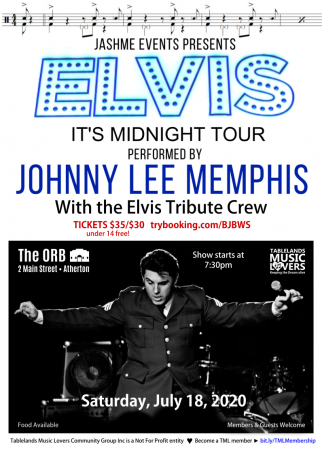 CANCELLED - ELVIS - It's Midnight Tour