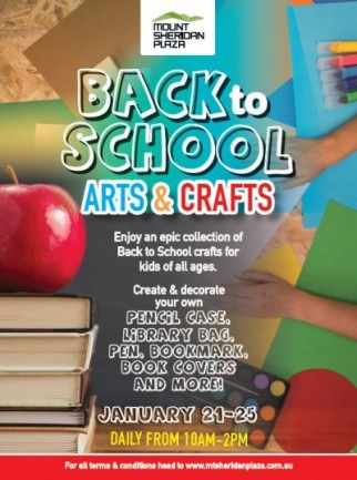 Back to School Arts & Crafts at Mt Sheridan Plaza - Free