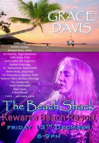 Grace Singing at The Beach Shack - Kewarra Beach
