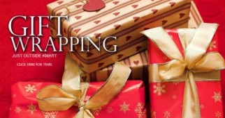 Gift Wrapping for a gold coin donation Mt Sheridan Plaza