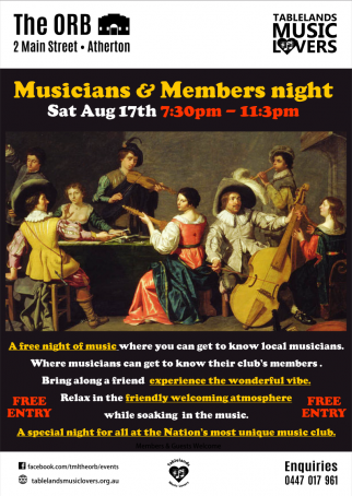 Musicians and Members night
