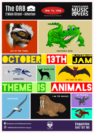 Sunday Blackboard Jam Theme Night is 'Animals'