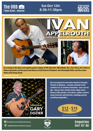 12th October 2019 - Ivan Appelrouth + Gary Dozier