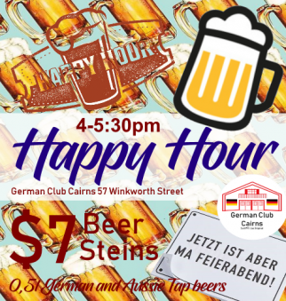 Happy hour (and 1/2) at the German Club Cairns