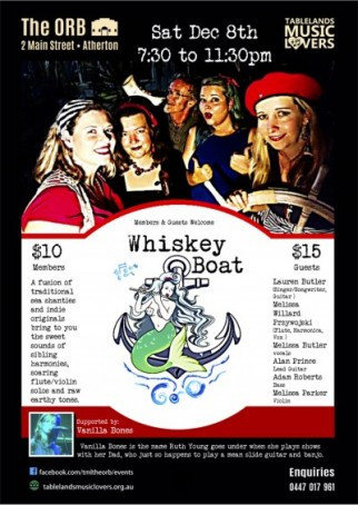 Whiskey Boat at the Orb