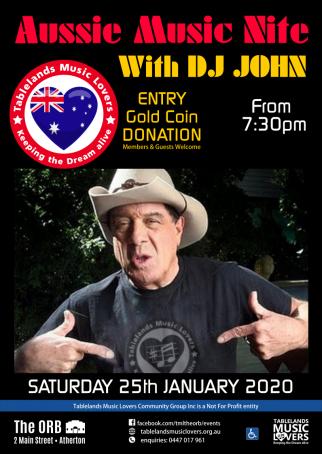 Aussie Music Night with DJ John