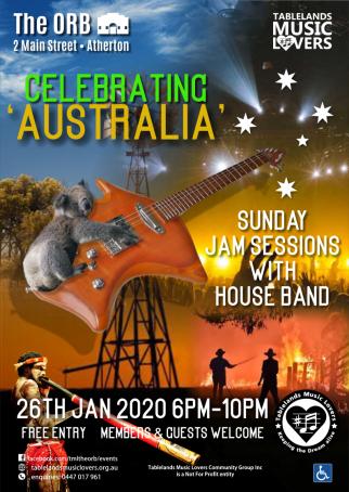 Celebrate Australia Jam with House Band