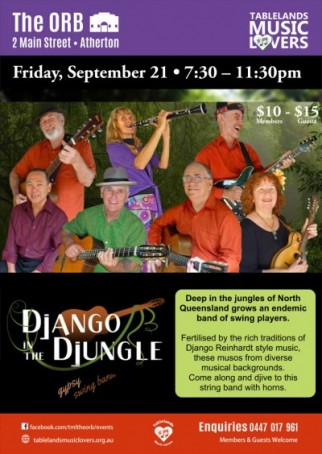 Django in the Djungle gypsy swing band