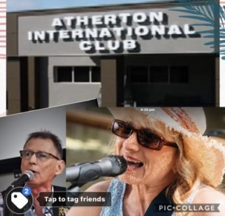 Kim Settle (Rock'n Sweet ) and John Comrie at the Atherton International Club