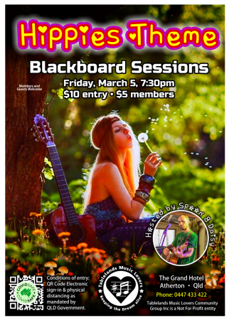 Hippies Theme Blackboard sessions