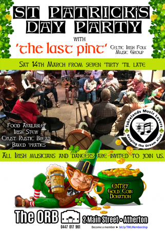 St Patrick's Day Party with The Last Pint