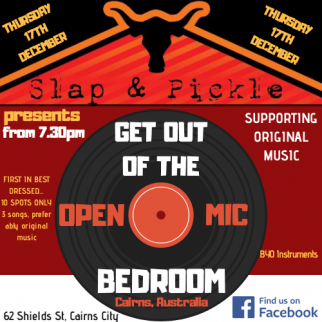 GET OUT OF THE BEDROOM OPEN  MIC