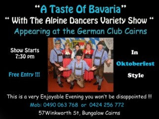 """A Taste of Bavaria with """"The Alpine Dancers Variety Show"""""""