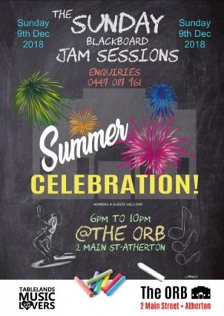 Summer Celebration theme • Sunday Blackboard Jam Sessions