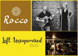 Left Unsupervised Duo at Rocco rooftop bar